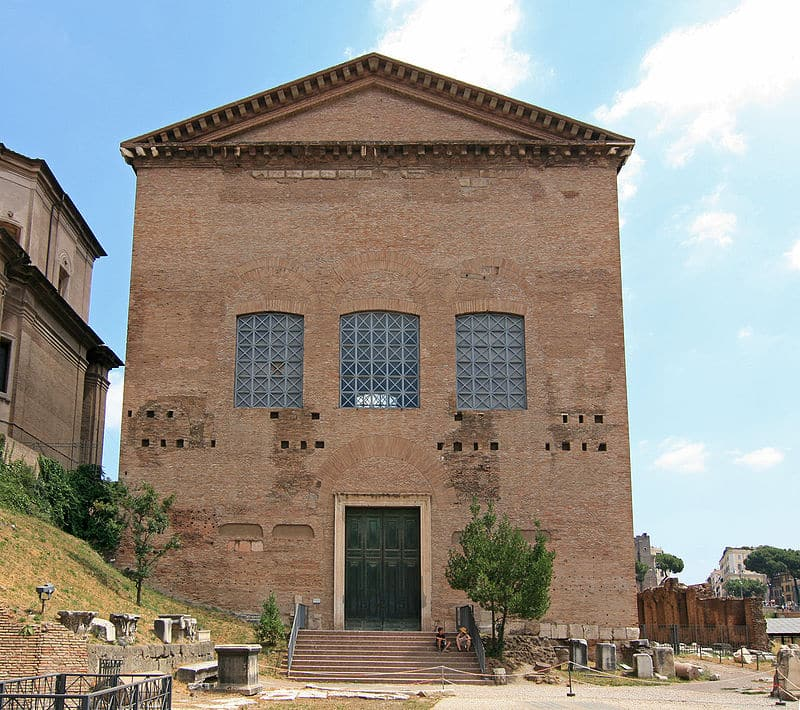 Curia Julia vista frontal