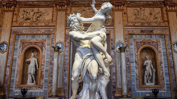 galeria borghese rapto de Proserpina