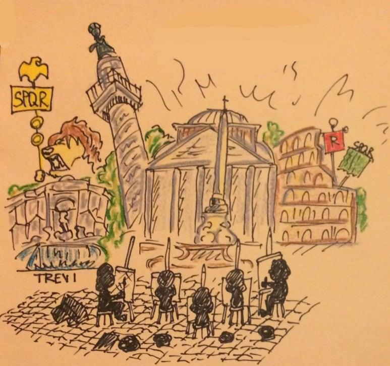 artistas en Roma