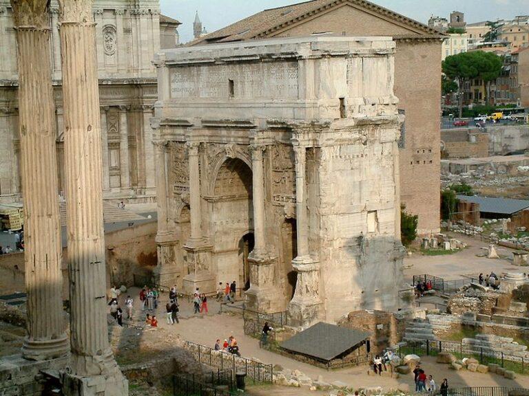 Umbilicus urbis en el centro del foro roman