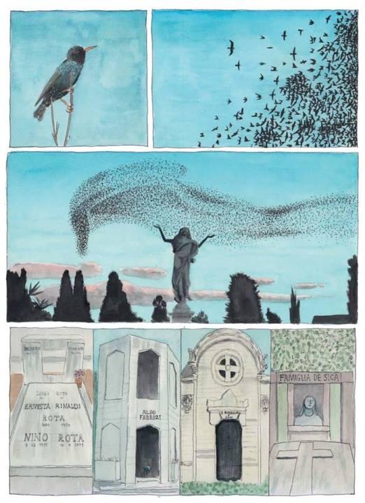 cementerio verano Roma dibujos de Tyto Alba
