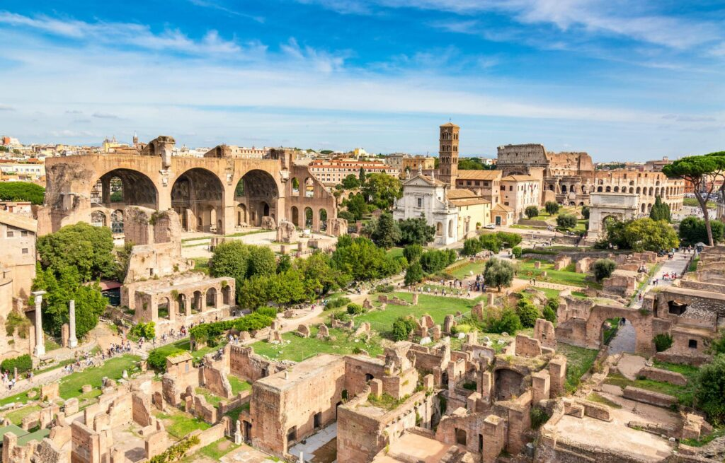 Roma con niños búsqueda del tesoro coliseo antigua roma