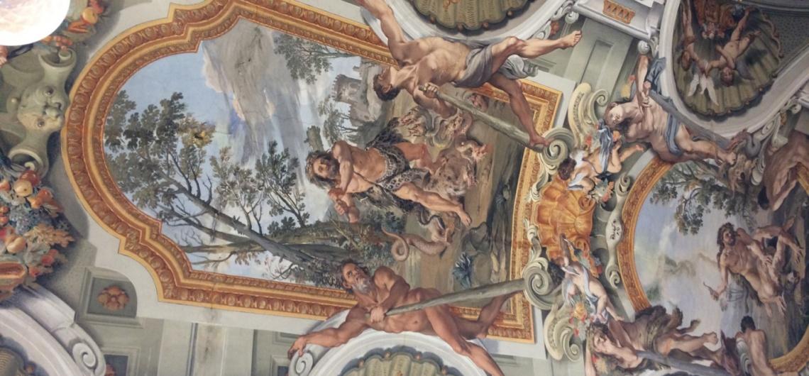 roma barroca hercules fresco