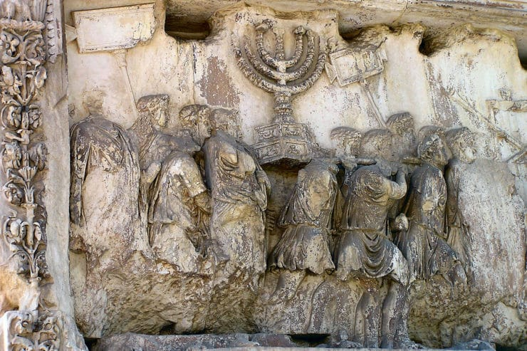 historia judíos en Roma