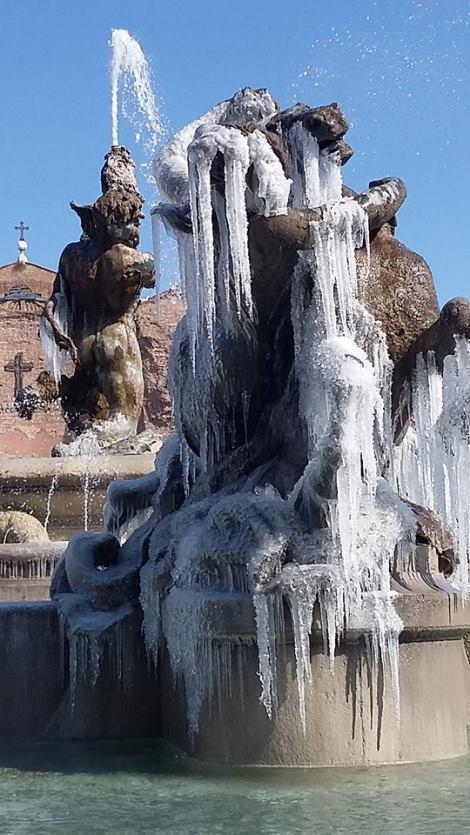 roma fuente nayades helada