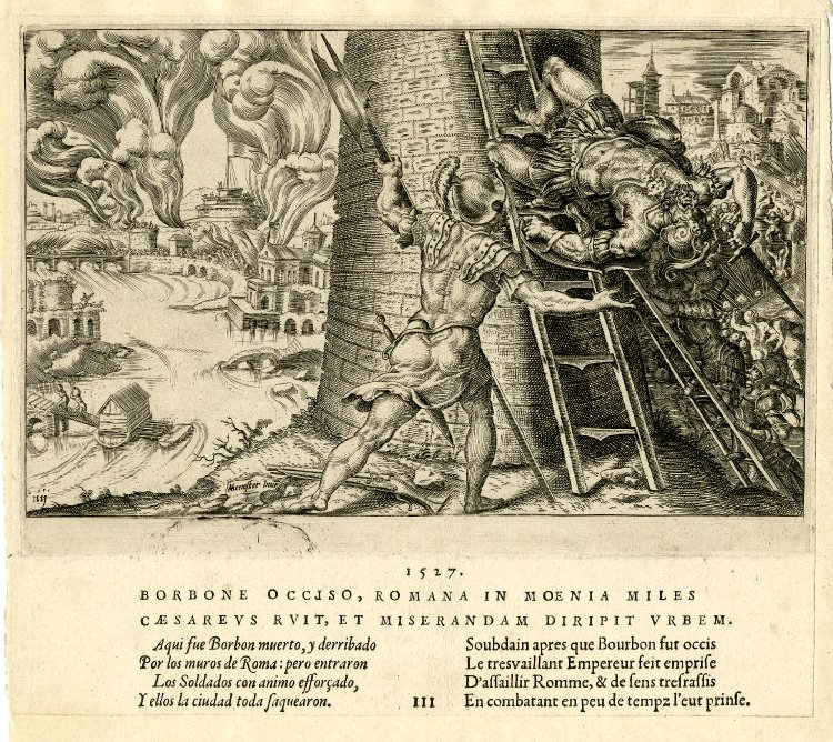 Saqueo Roma 1527 muerte condestable borbon
