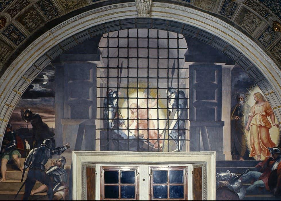 liberacion san pedro estancias rafael museos vaticanos pintores españoles en roma