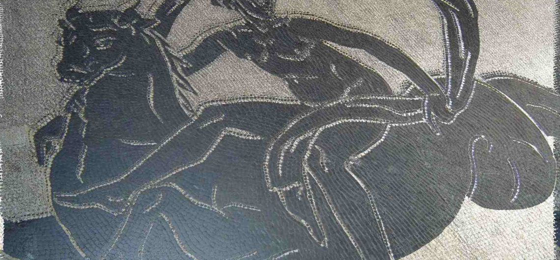 ninfa caballo marino mosaico