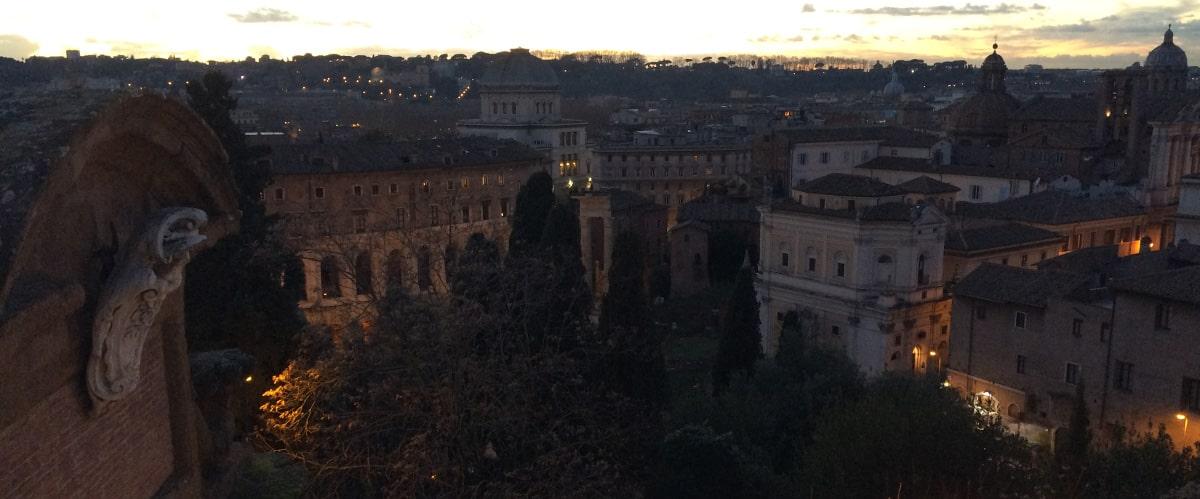Vistas desde la terraza del bar de los Museos Capitolinos, Terraza Caffarelli