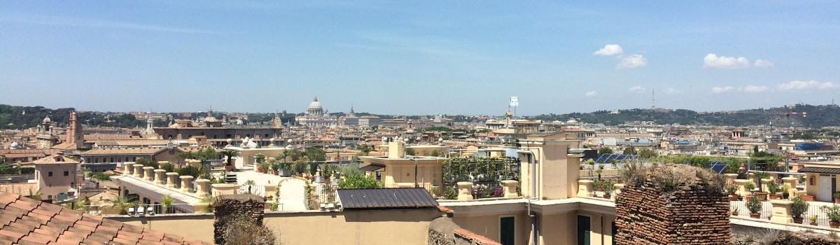 Terrazas panorámicas de Roma vistas desde el Quirinal