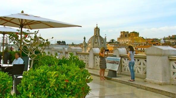 terraza panoramica vittoriano vistas desde el café