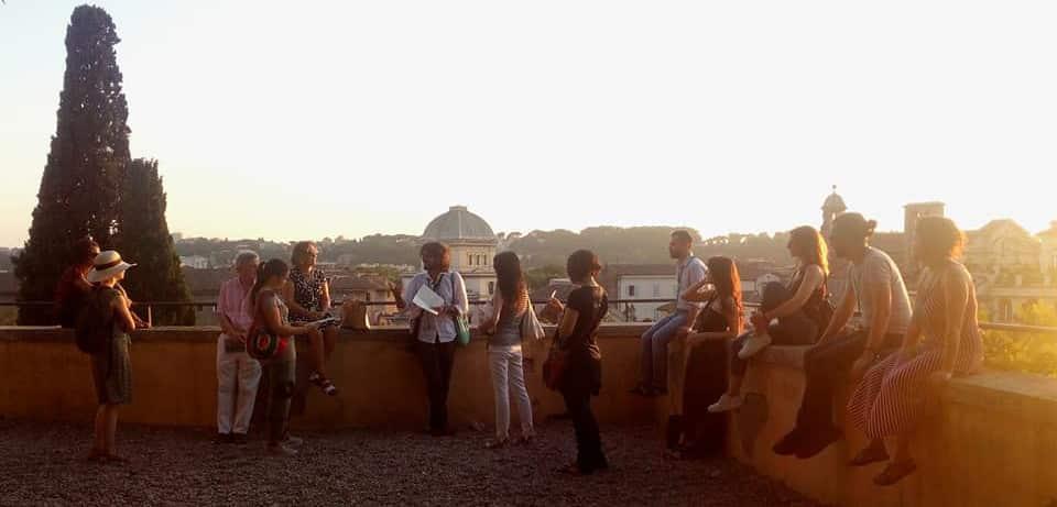 lugares románticos en Roma terraza caffarelli