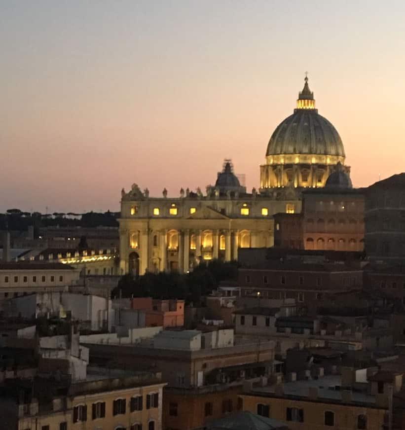 basilica san pedro atardecer roma