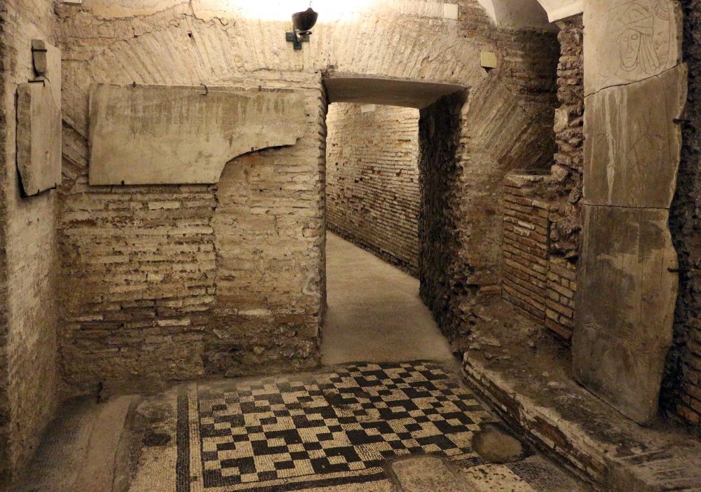 Santa cecilia trastevere excavaciones