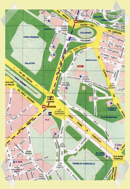 mapa coliseo roma