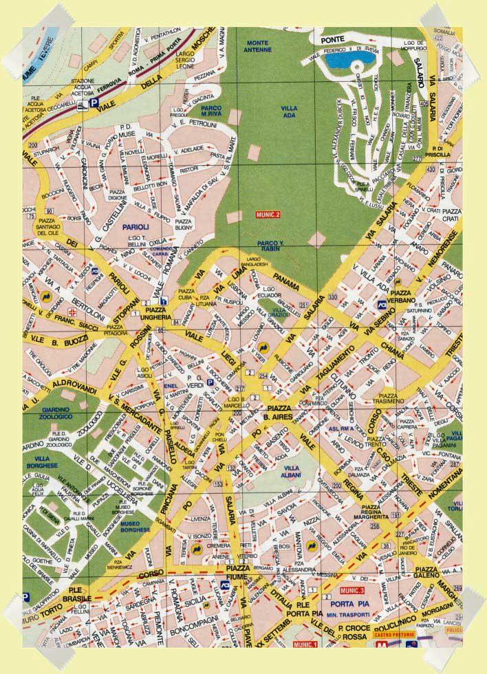 mapa salario parioli en Roma