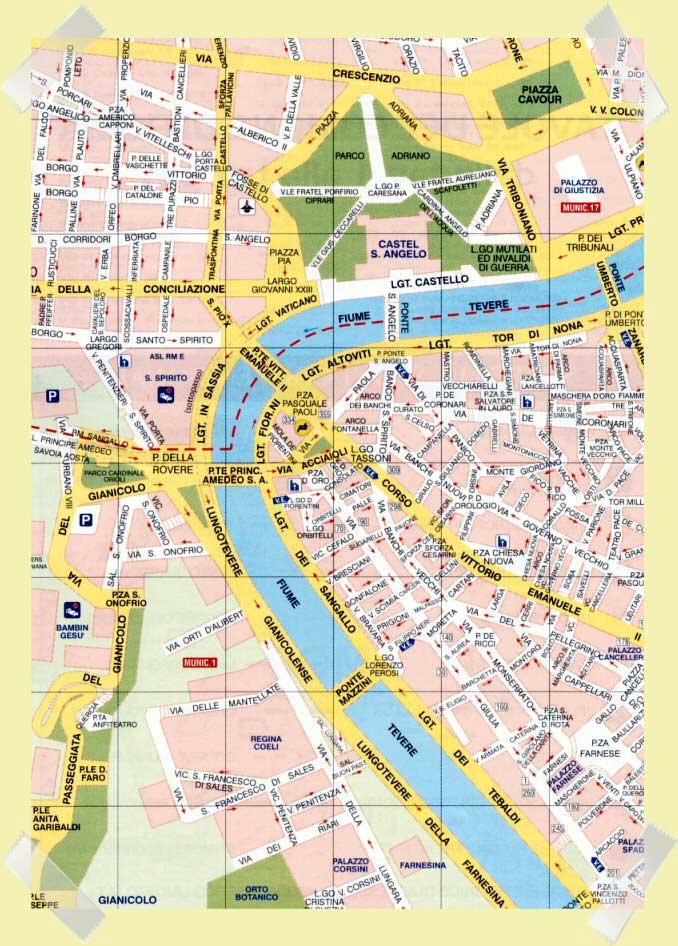 mapa castillo sant'angelo roma