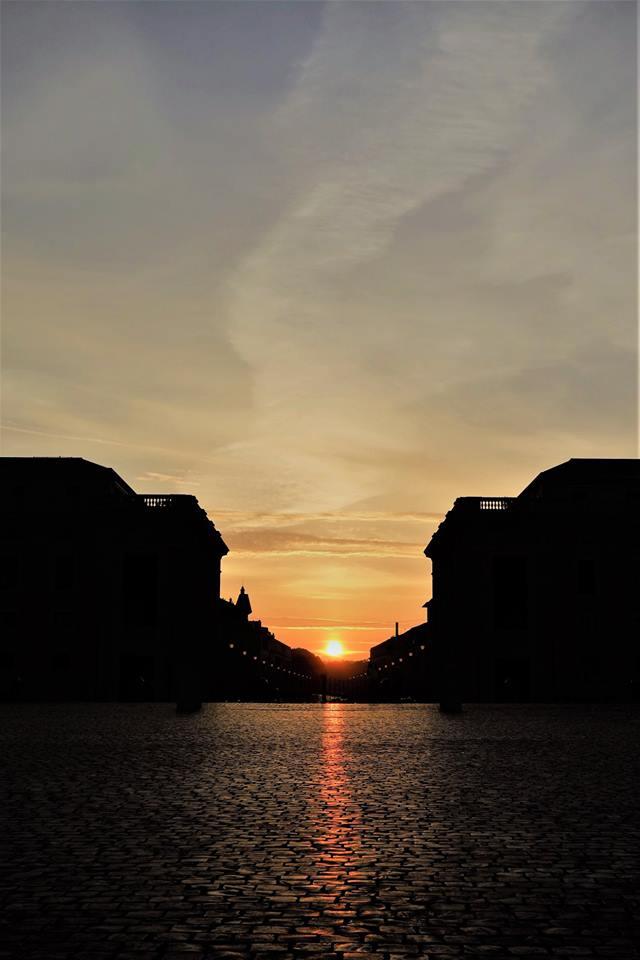 amanecer en roma plaza san pedro al alba