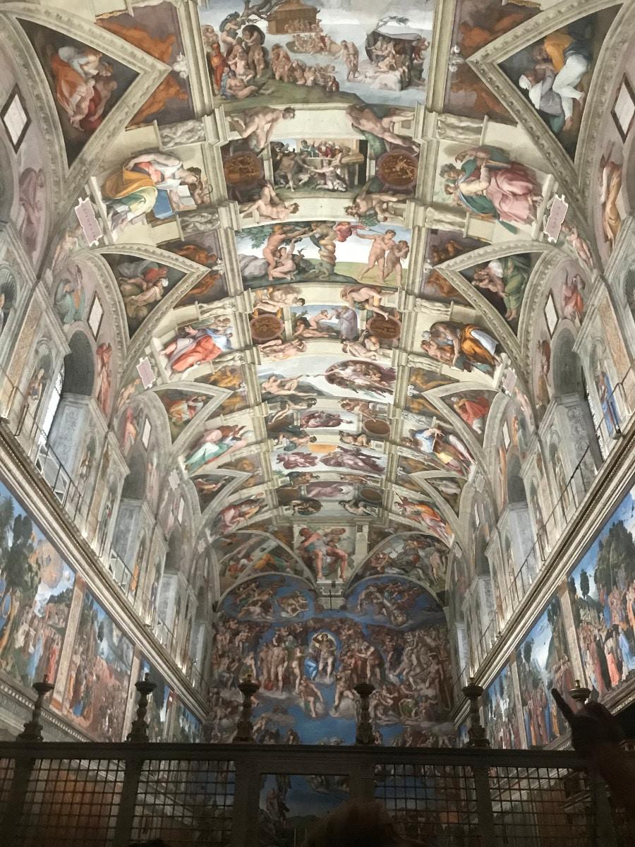 capilla sixtina frescos boveda