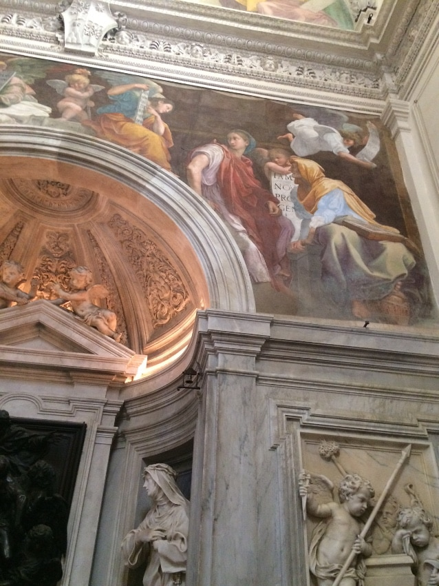 sibilas frigia tiburtina capilla chigi santa maria della pace