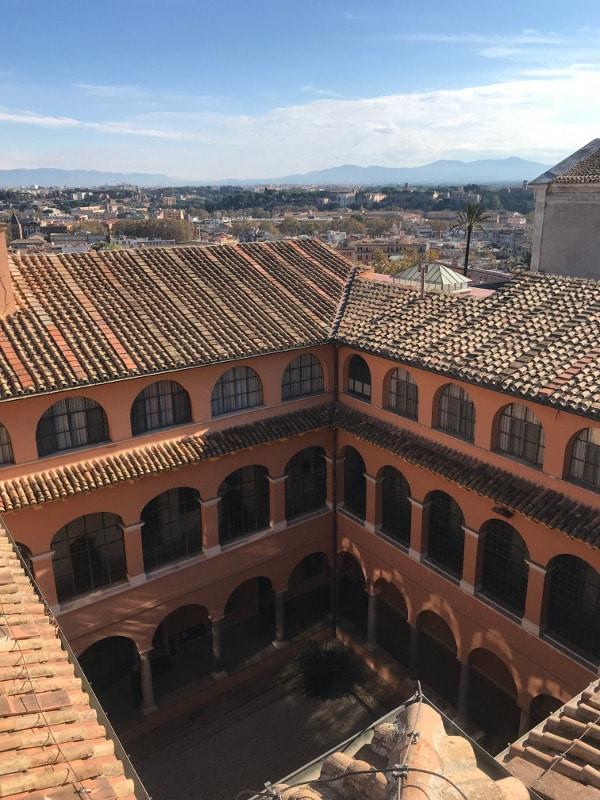 claustro academia espana gianicolo