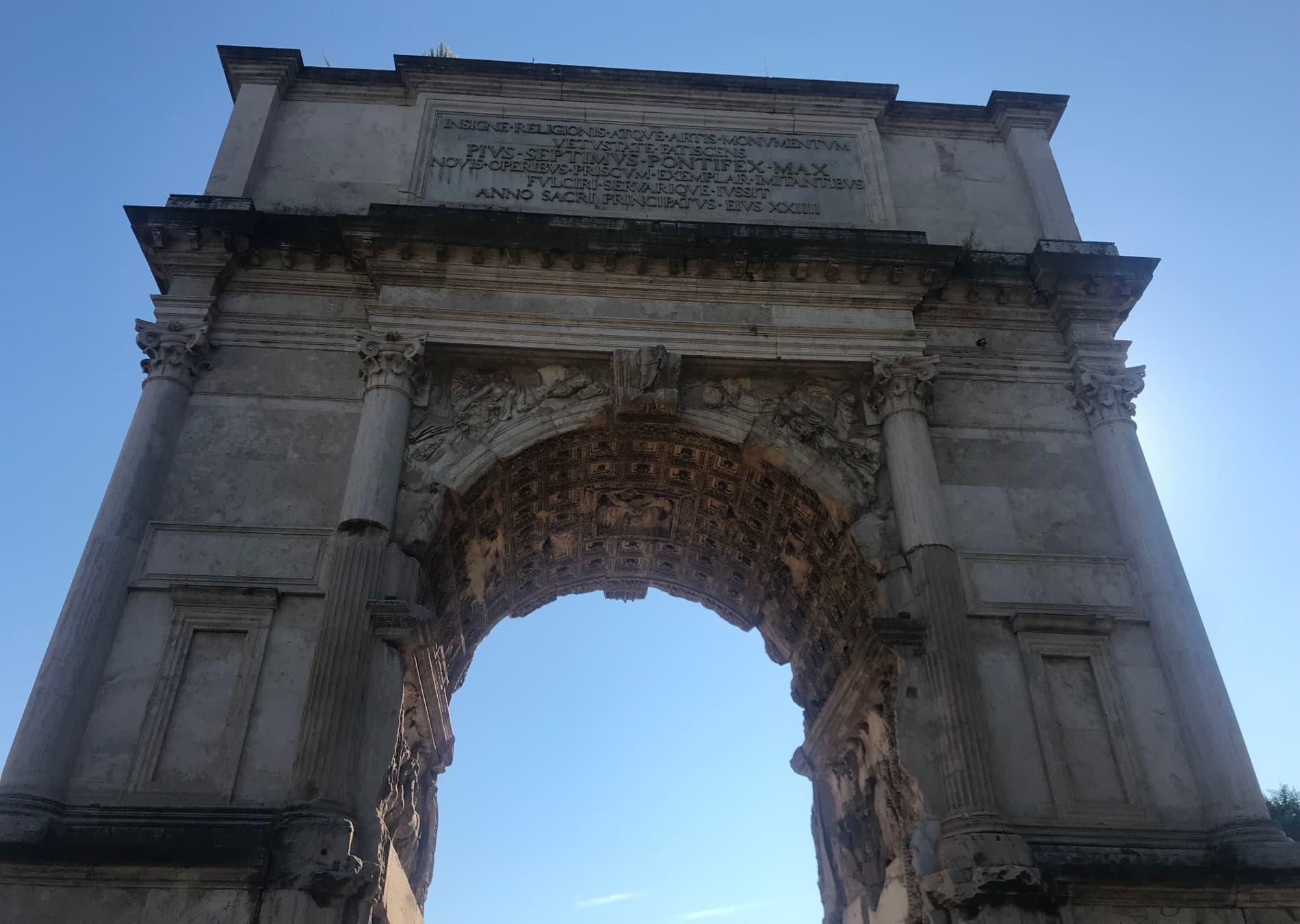 foro romano arco tito
