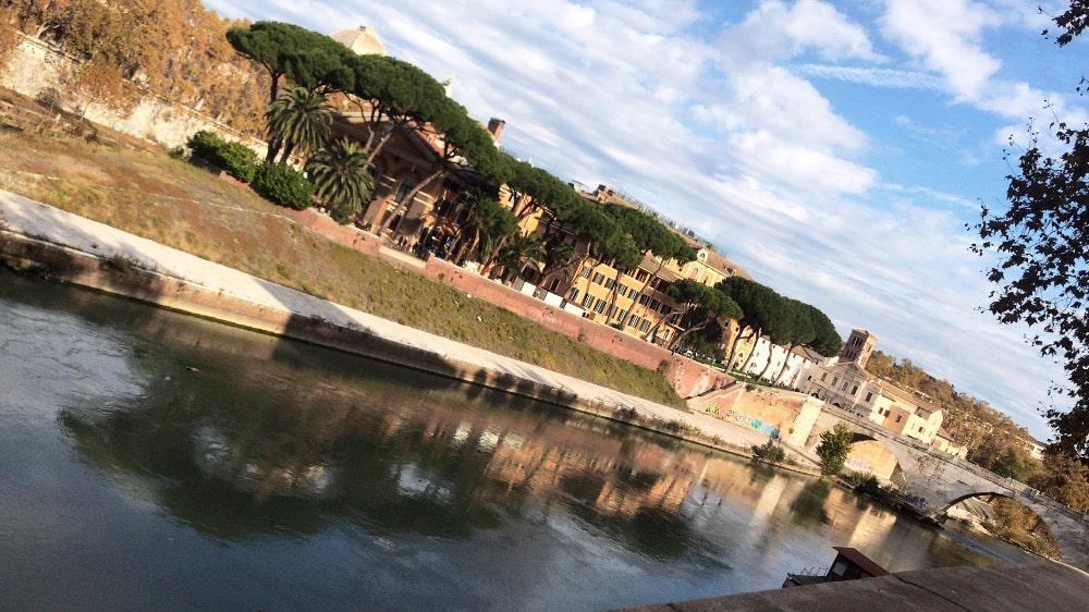 Lugares para correr en Roma.Lungotevere.