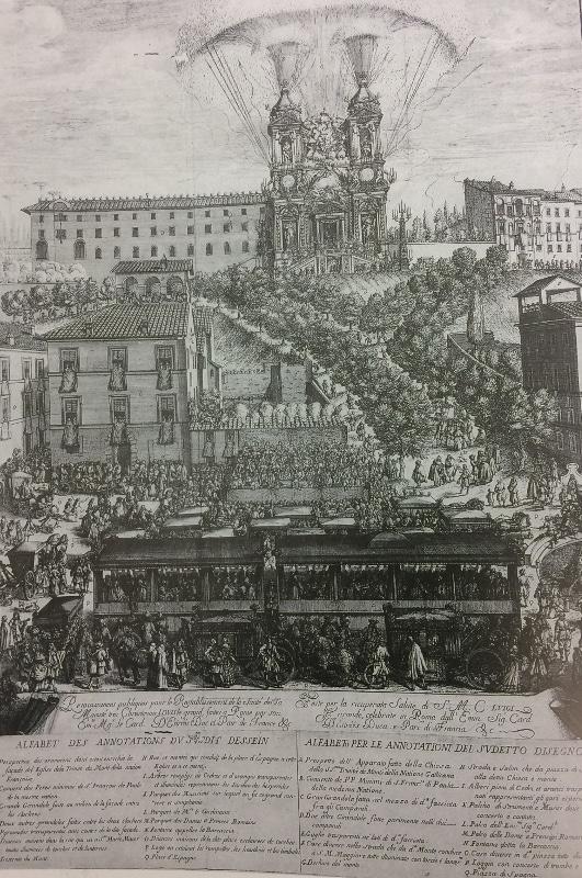 fiesta en plaza espana 1687