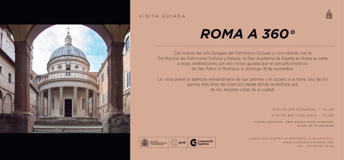 visita guiada academia españa roma