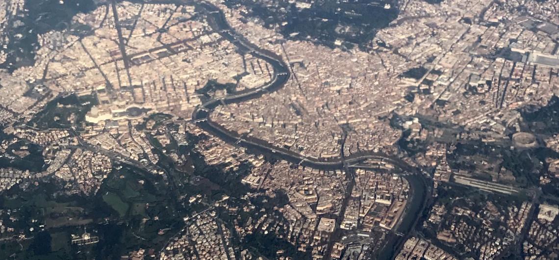 roma vista aerea mapa desde lo alto