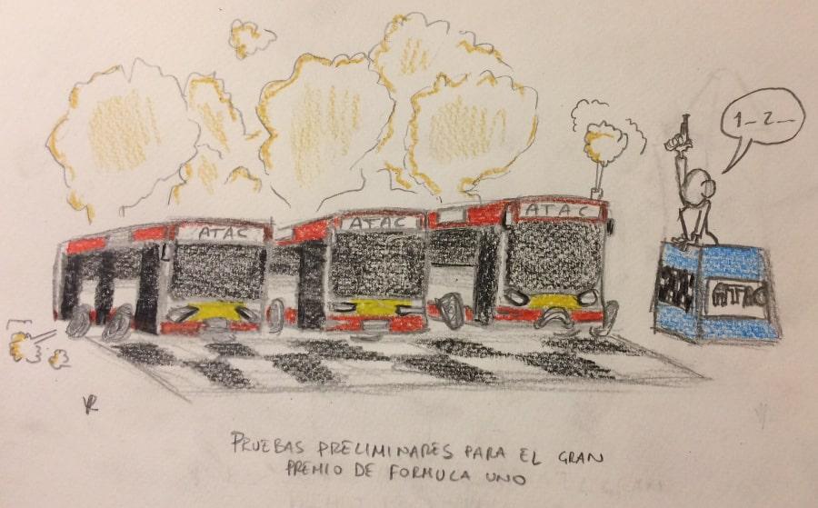 guia divertida roma autobuses