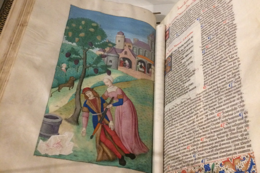 piramo y tisbe ilustrazione medieval