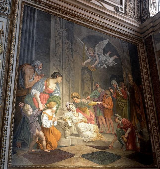 santa cecilia domenichino san luis franceses roma