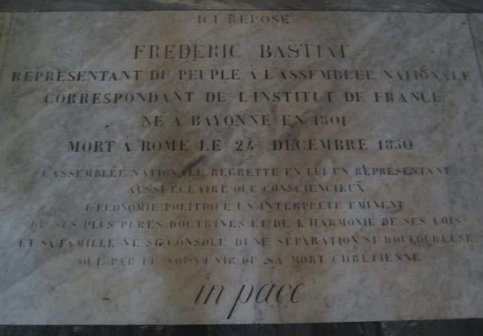 tumba frederic Bastiat san luis franceses roma