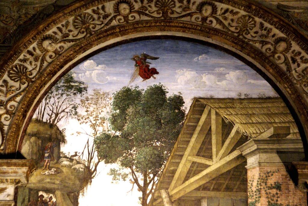 santa maria popolo pinturicchio natividad detalle