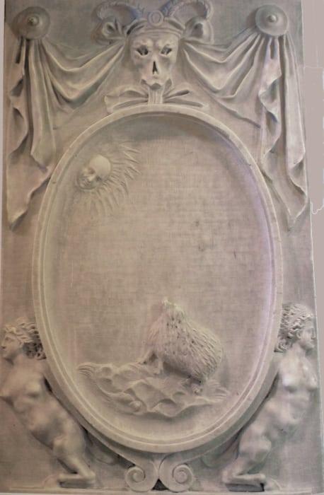 balaustrada escudo ricci san pedro en montorio