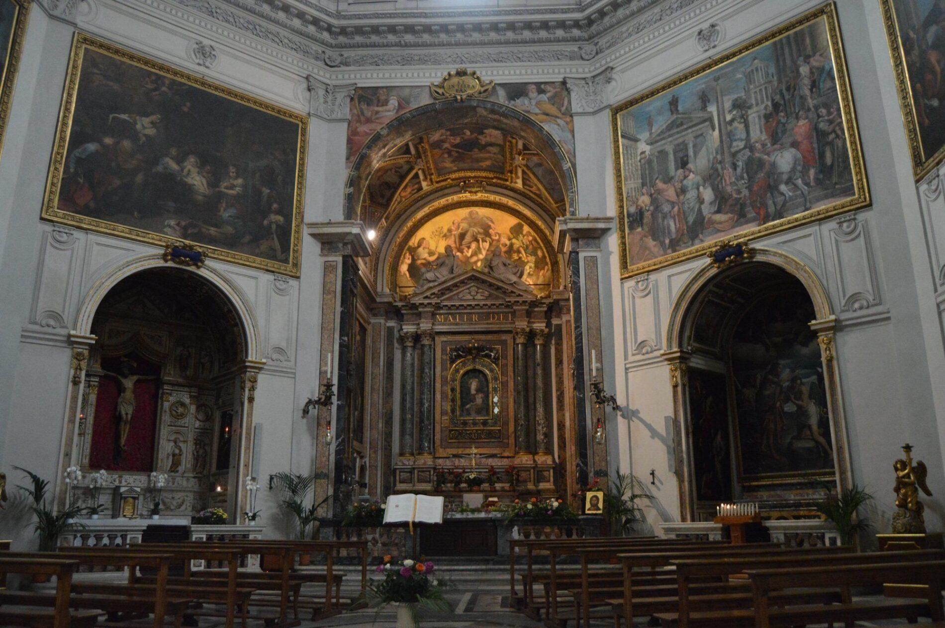 santa maria pace altar