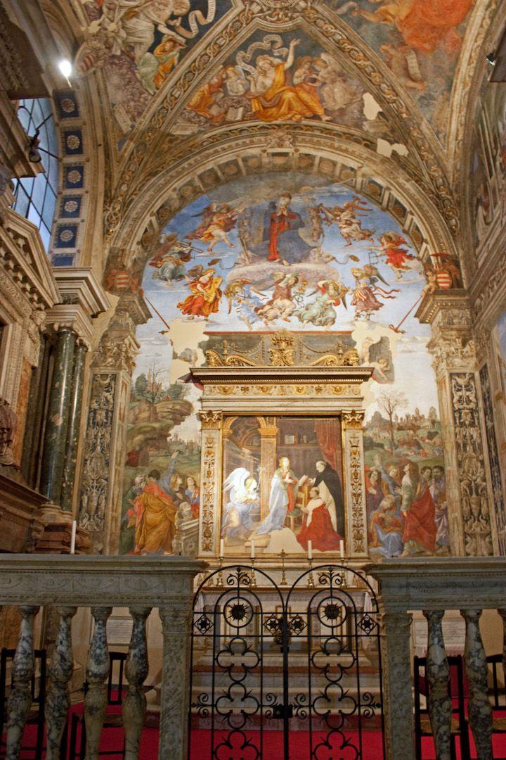 santa maria sopra minerva lippi frescos