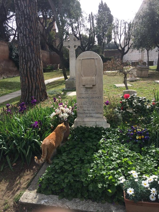 tumba keats cementerio acatolico