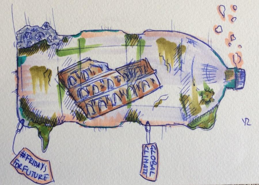 dibujo viernes del planeta en Roma