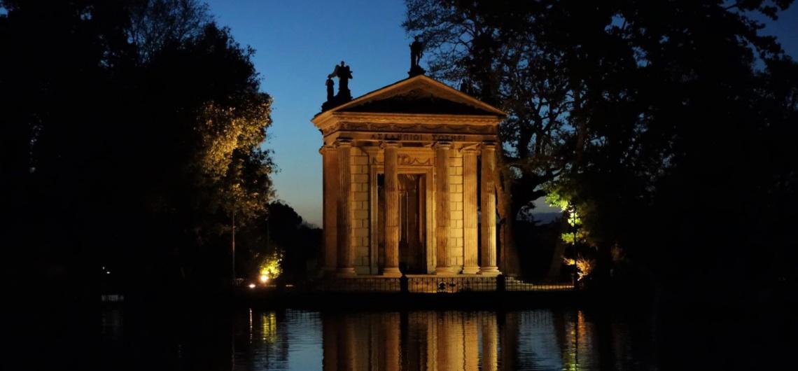 templo esculapio villa borghese