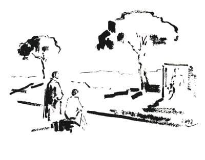 Maria Zambrano y Ramon Gaya en la via Apia