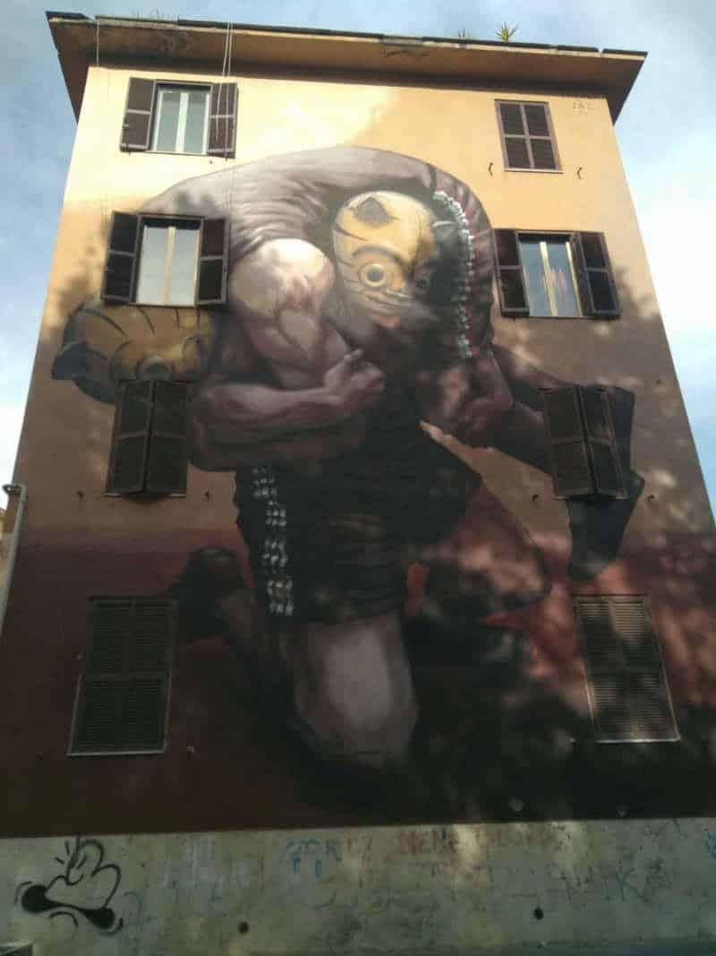 arte urbano en el barrio de tor marancia