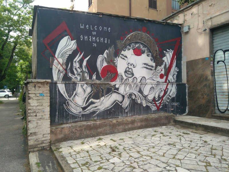arte urbano en el barrio romano de tor marancia