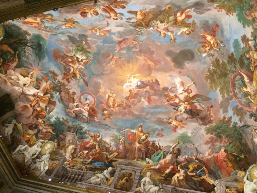fresco techo galeria borghese