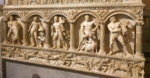 heroes roma relieve trabajos hercules