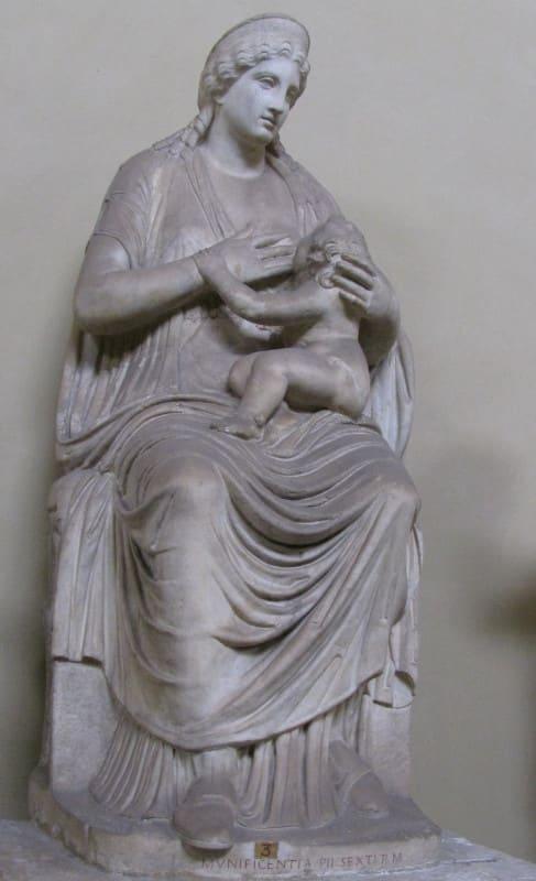 juno amamantando hercules museos vaticanos