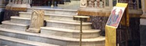san bartolomeo isla tiberina altar con pozo
