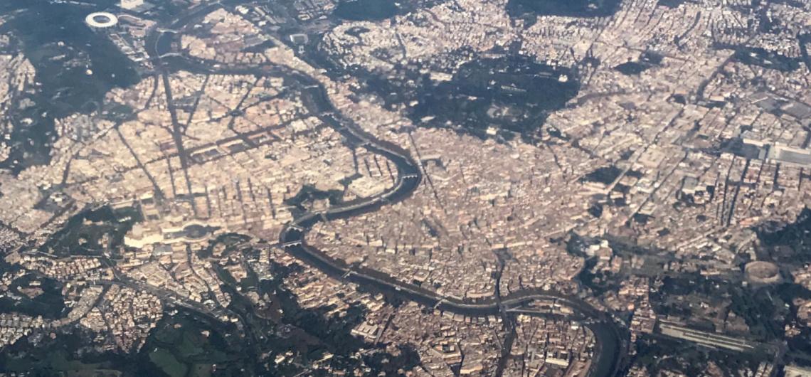 vista aerea centro roma