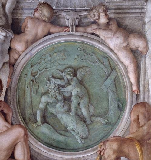 Annibale Carracci palacio Farnese Amor Omnia Vincit